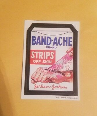 Vintage   Wacky Packages band ache White Back rough corners
