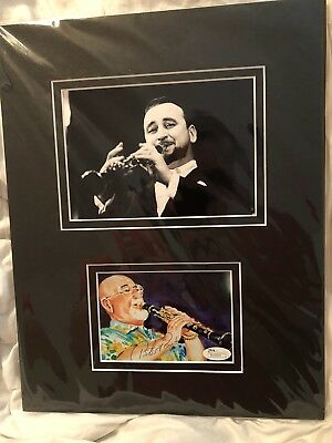 Pete Fountain Autograph Matted Double Picture with COA
