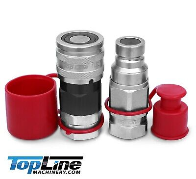 TL52 3/4 NPT Thread Flat Face High Flow Quick Connect Hydraulic Coupler Coupling