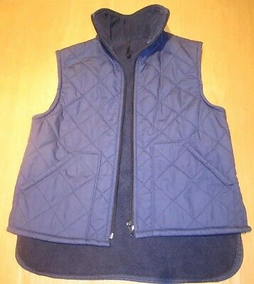 Girls Navy Quilted Riding Gilet (Size 28)