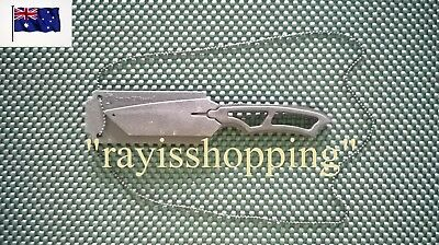 Matte Black Smith & Wesson Fixed Blade Knife Whistle with Necklace Neck Fishing