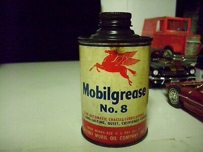 Vintage- Original 1940's Mobilgrease No.8 Socony Mobil Oil Co. Can - Empty
