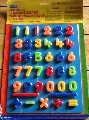 Magnetic counting board with 37 numbers and signs