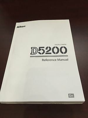 Nikon D5200 Digital Camera Reference Manual Guide Book Brand New. Never Used