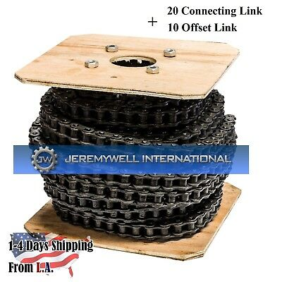 25 Roller Chain 100 Feet with 20 Connecting Links 10 Offset Links