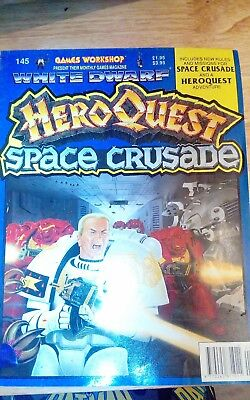 White dwarf magazine 145 Hero Quest and Space Crusade edition