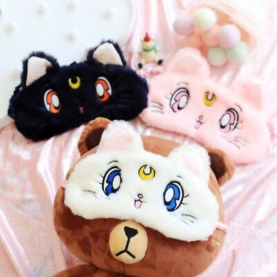 Sailor Moon Sleep Mask - Eye Mask - Blindfold - Kawaii Cat