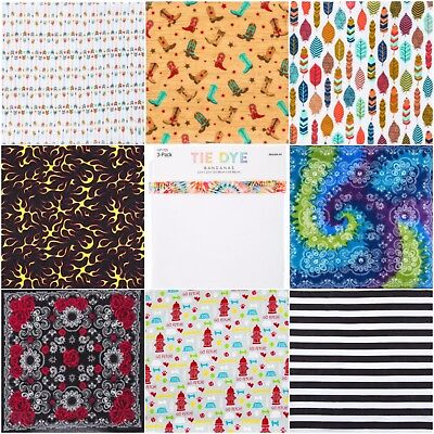 Various Printed Bandanas 22x22 Various Styles! New Styles Added!