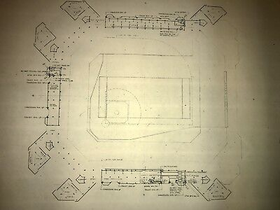 Veterans Stadium Vintage  Blueprint - Philadelphia Eagles -Philadelphia Phillies