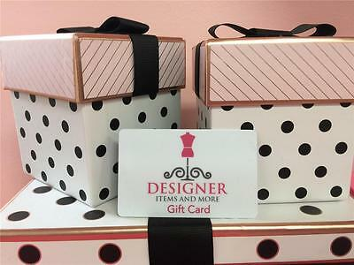 New Designer Items and More Gift Card $100 (Includes Free Shipping) Certificate