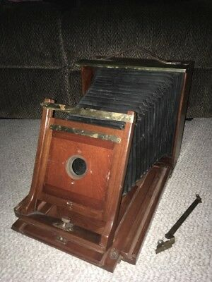 Beautiful Rare Antique Wooden Camera **Must See!** Great Finish! NO RESERVE