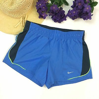 Nike Dri Fit Womens Blue Tempo Athletic Running Shorts size XS Workout Gym