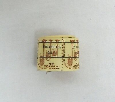 Los Angeles California 7.7 Cent Bulk Rate Horns Stamp, Roll of 46 Stamps