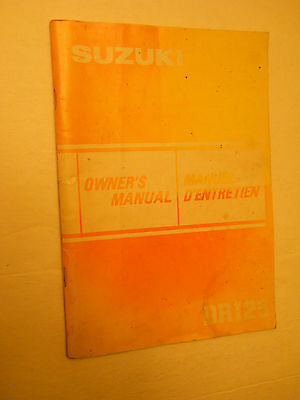 Dr125 Suzuki  Owners Manual