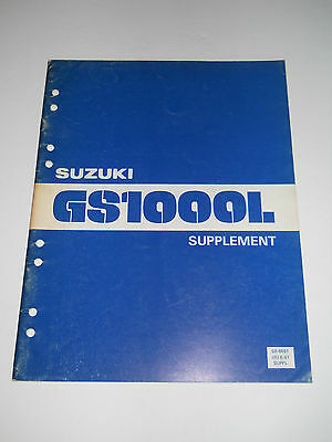 Suzuki Gs1000 L 1980  Official Supplementary Service  Manual