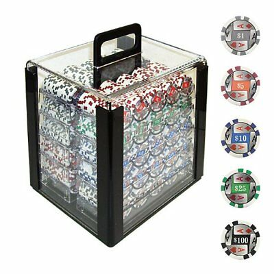Trademark Poker 1000 11.5 Gram 4 Aces with Denominations  W