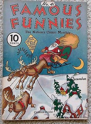 Famous Funnies # 41 (1937)  CHRISTMAS COVER     Great Condition  BUCK ROGERS