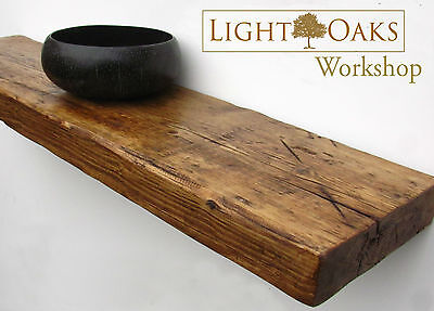 Reclaimed Rustic Chunky Floating Shelf Shelves Wooden Industrial
