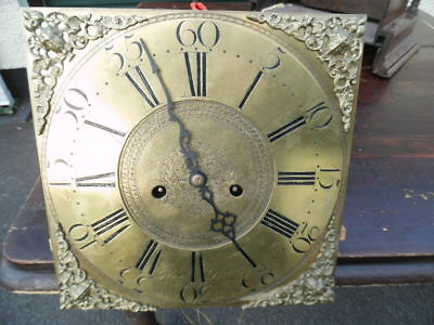 grandfather brass clock works dublin dual sided chapter ring