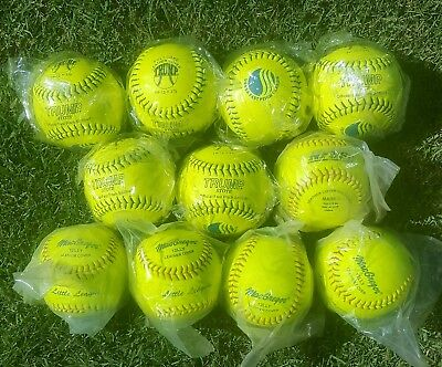 "11 Brand New 12"" Fastpitch Leather Softballs"