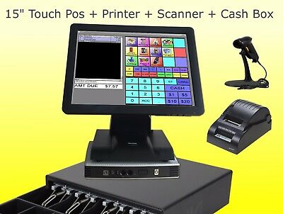 15 inch Point of sale POS system register Touch screen