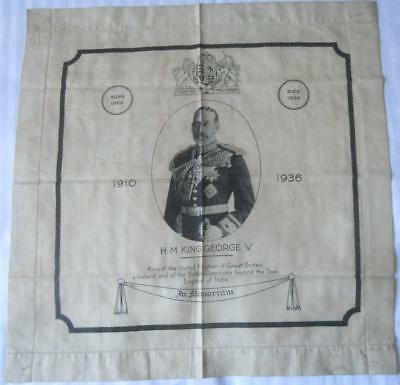 1936 In Memoriam Handkerchief H.m. King George V