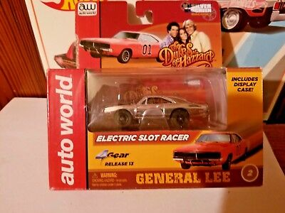 "Auto World Ho 1:64 Slot Car Dukes Of Hazzard ""general Lee"" Chrome"