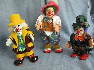 Vintage Set of 3 Clowns