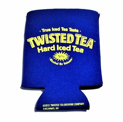 Twisted Tea Hard Iced Tea Slide on Soft Bottle Can Drink Blue Yellow Koozie