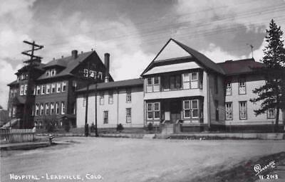 1940's Hospital In Leadville  Colo. Real Photo RPPC Postcard