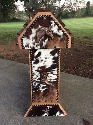 Saddle Stand / Horse Head / Boot / Cowhide / Western Decor / Made In Usa