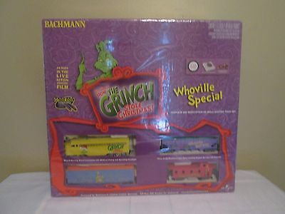 Bachman the grinch that stole christmas HO train set- 2000 Universal New& Sealed