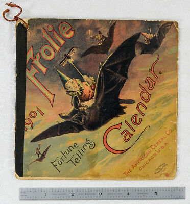 Fabulous Fortune Telling Book Quaker Oats Brownies 1901 Bats Ghost