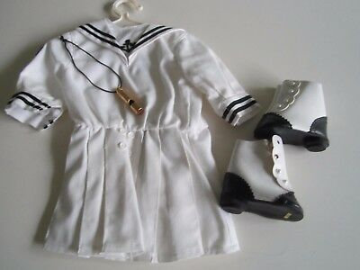 American Girl FELICITY Original Sailor Middy Outfit 1989 Shoes Whistle Hanger A+