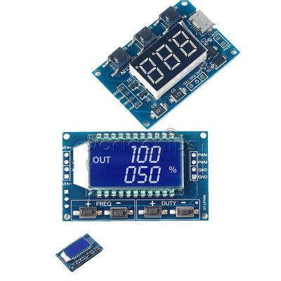 2CH PWM Pulse Frequency Duty Cycle Square Wave Signal Generator LCD Module