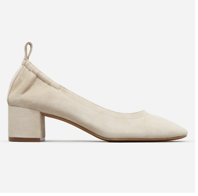 Everlane day heel/Shoes Natural Suede — Size 6.5 Elegant work shoes