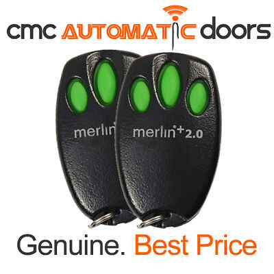 2 x Merlin Remote Control E945M + 2.0 Garage Door Remote. Genuine Remote 2.0