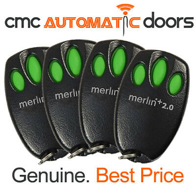 4 x Merlin Remote Control E945M + 2.0 Garage Door Remote. Genuine Remote 2.0