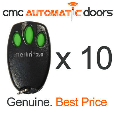 10 x Merlin Remote Control E945M + 2.0 Garage Door Remote. Genuine Remote 2.0