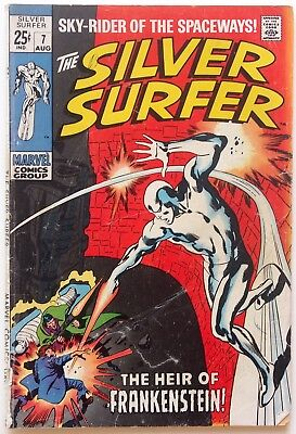 The Silver Surfer #7 (1969, Marvel) - Stan Lee-  Buscema - Heir Of Frankenstein