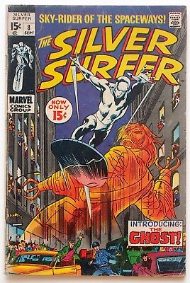 The Silver Surfer #8 (1969, Marvel) - 1st App. of The Ghost - John Buscema!