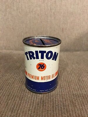 Vintage Union 76 Triton 10-30 Miniature Oil Can Coin Bank