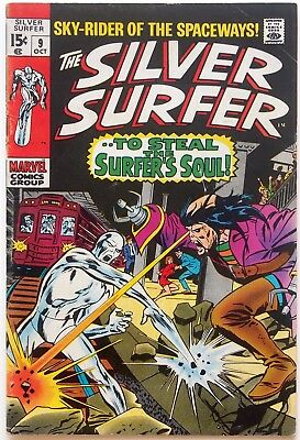 The Silver Surfer #9 (1969, Marvel) - Mephisto - John Buscema - 1st Series!