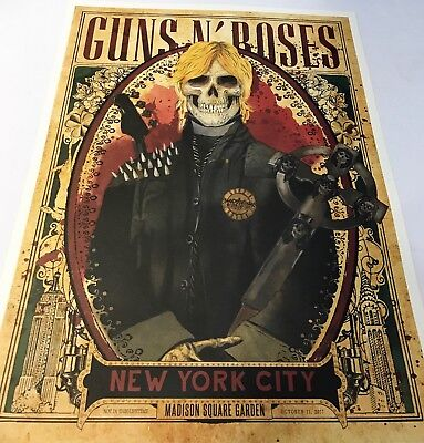 Guns N Roses Msg Nyc Set Of Duff Axl & Slash Posters From Each Night All 50/300!