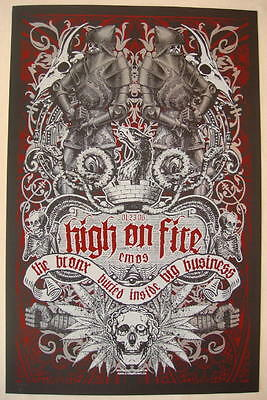 2006 High on Fire - Austin Silkscreen Concert Poster by Jared Connor