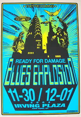 2004 Jon Spencer Blues Explosion - NYC Silkscreen Concert Poster by Mike Martin