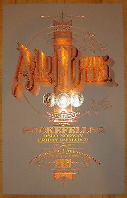 2013 Avett Brothers - Oslo Concert Poster by Martin Kvamme