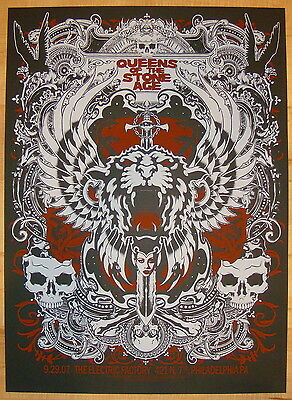 2007 Queens of the Stone Age - Philadelphia Concert Poster by Connor and Forbes