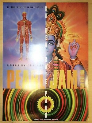 1995 Pearl Jam & Bad Religion - San Francisco Concert Poster by Rex Ray