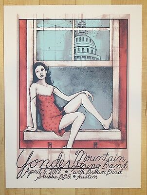 2012 Yonder Mountain String Band - Austin Concert Poster AP by Farley Bookout